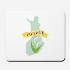Finland Lily Of The Valley Flower Mousepad