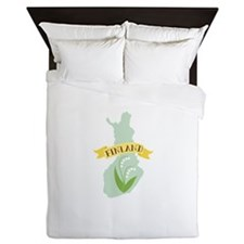 Finland Lily Of The Valley Flower Queen Duvet