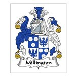 Millington Family Crest Small Poster