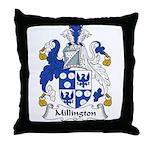 Millington Family Crest Throw Pillow