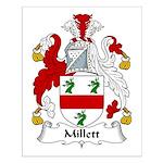 Millett Family Crest Small Poster