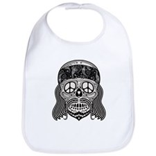 Peaceful Paisley Skull Bib