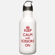 Keep Calm and Scissors Water Bottle