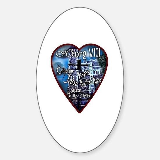 Henry VIII Makes a Valentine Sticker (Oval)
