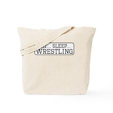 Eat Sleep Wrestling Tote Bag