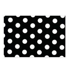 Black with White Dots Postcards (Package of 8)