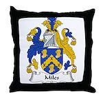 Miles Family Crest Throw Pillow