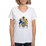Miles Family Crest Women's V-Neck T-Shirt