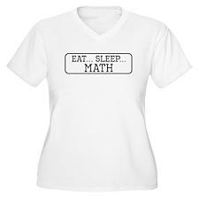 Eat Sleep Math Plus Size T-Shirt