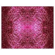 pink glitter Poster