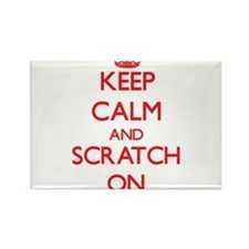 Keep Calm and Scratch ON Magnets
