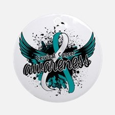 Cervical Cancer Awareness 16 Ornament (Round)