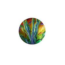 Colorful Cool Fractal Art Mini Button