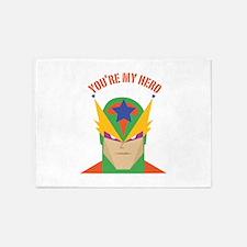 You're My Hero 5'x7'Area Rug