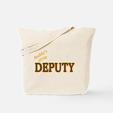 Daddy's Little Deputy Tote Bag