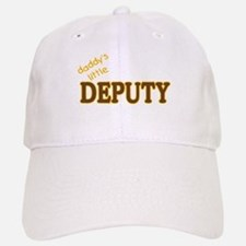 Daddy's Little Deputy Baseball Baseball Cap