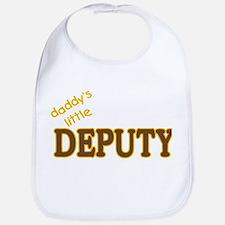 Daddy's Little Deputy Bib