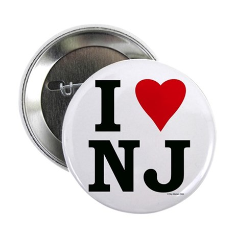 """I LOVE NJ 2.25"""" Button (100 pack)"""