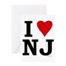 I LOVE NJ Greeting Card