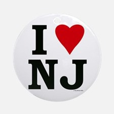 I LOVE NJ Ornament (Round)