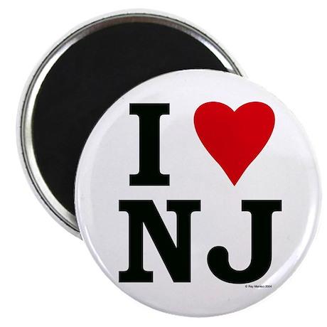 """I LOVE NJ 2.25"""" Magnet (10 pack)"""