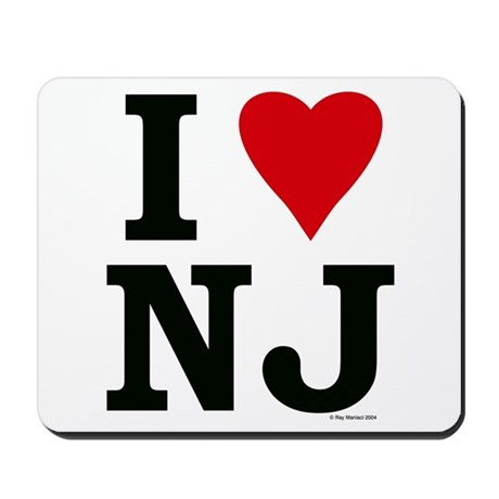 I LOVE NJ Mousepad