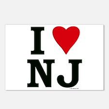 I LOVE NJ Postcards (Package of 8)