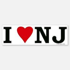 I LOVE NJ Bumper Bumper Bumper Sticker