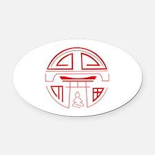 Unique Shinto Oval Car Magnet