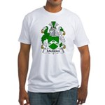 Mickleton Family Crest  Fitted T-Shirt