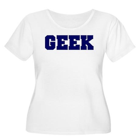 GEEK Women's Plus Size Scoop Neck T-Shirt