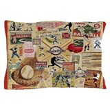 Vintage baseball Pillow Cases