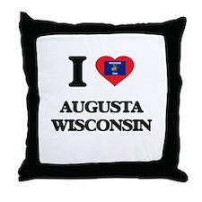 I love Augusta Wisconsin Throw Pillow