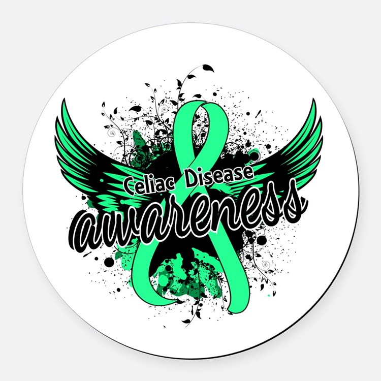 Celiac Disease Awareness 16 Round Car Magnet