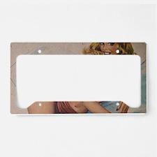 Pinup Girl License Plate Holder