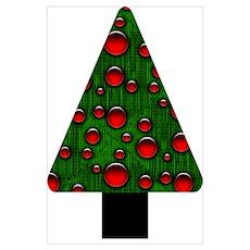 Binary Digital Geek Christmas Tree Poster