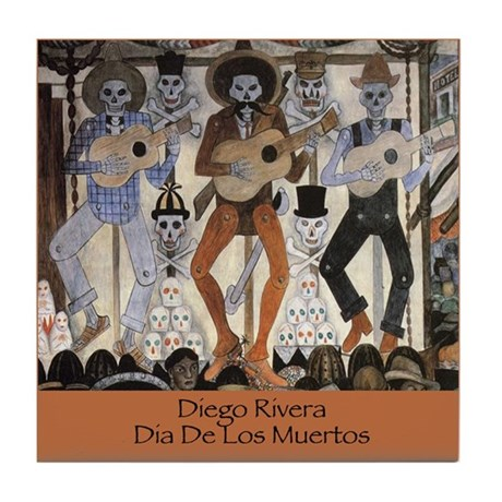 Diego Rivera Art Tile Coaster Day of the Dead