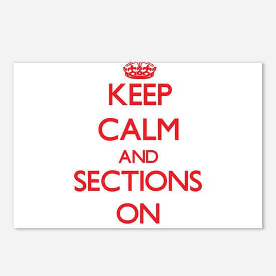 Keep Calm and Sections ON Postcards (Package of 8)