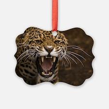 Growling Jaguar Ornament