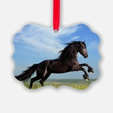Black Horse Running Ornament