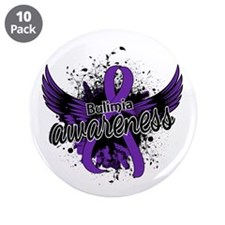 """Bulimia Awareness 16 3.5"""" Button (10 pack)"""