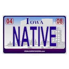 Iowa Plate - NATIVE Rectangle Decal