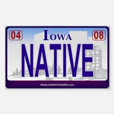 Iowa Plate - NATIVE Rectangle Stickers