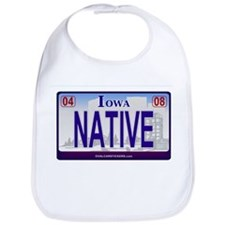 Iowa Plate - NATIVE Bib