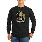Mervyn Family Crest Long Sleeve Dark T-Shirt