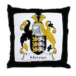 Mervyn Family Crest Throw Pillow