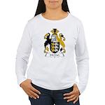 Mervyn Family Crest Women's Long Sleeve T-Shirt