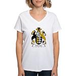 Mervyn Family Crest Women's V-Neck T-Shirt
