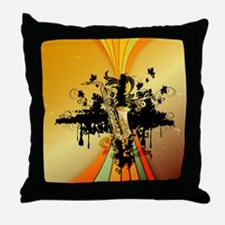 Music, saxophone Throw Pillow