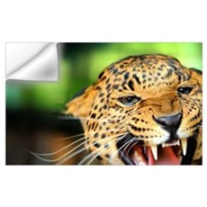 Growling Leopard Wall Decal